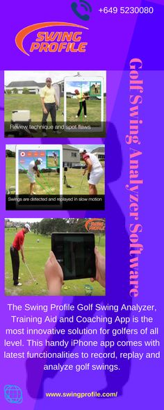 the golf swing Golf Swing Analyzer, Golf Training, Mobile App, Improve Yourself, Coaching, Software, Swings, Ipad, Profile