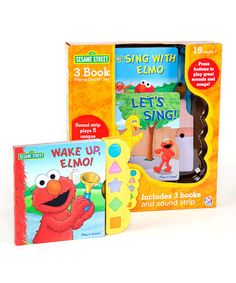 Take a look at this Sesame Street Play-a-Sound Board Book Set by Sesame Street on #zulily today!
