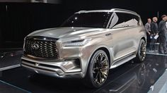 Infiniti is showing its Monograph concept of its flagship SUV at the New York Auto Show. Infinity Suv, Infiniti Qx 80, Lexus Lx570, Buy And Sell Cars, Suv Cars, Suv Trucks, Buick Gmc, Luxury Suv, Automotive Design