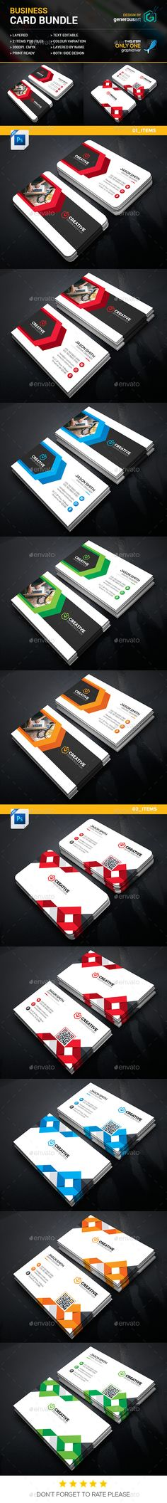 Business Card Templates PSD Bundle. Download here: https://graphicriver.net/item/business-bundle-2-in-1/17550915?ref=ksioks