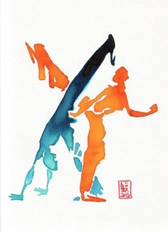 Encres : Capoeira - 244 [ #capoeira #watercolor #illustration ] by marquita