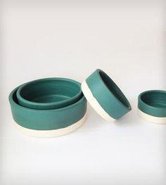 Oslo Teal Ceramic Nesting Bowls - Set of 4