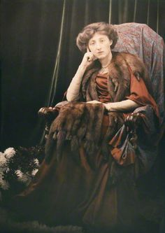 Olive Edis    by (Mary) Olive Edis (Mrs Galsworthy), or Katharine Legat (née Edis)  half-plate autochrome, 1900s