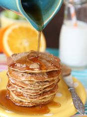 2-Ingredient Pancakes - Just eggs and bananas. I made these this morning. I am totally sold! Super yummy, thin, and crepe-like. -HCW