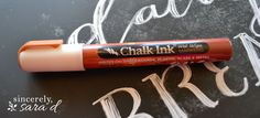 DIY Chalkboard Art - Chalk Ink can be used for more permanent projects, found on Amazon