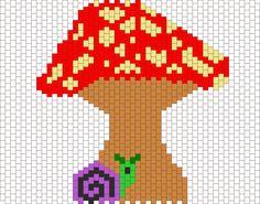 30e3fdd15 mushroom and snail bead pattern Pony Bead Patterns