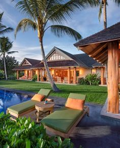 Distinctive Hawaii estate home // Listed by: Joni J. Metzler | Metzler Realty // #luxuryhomemagazine #luxuryhomes #luxuryrealtor #luxuryrealestate #luxe #luxury #home #house #abode #style #architecture #design #inspiration #homeinspiration #lifestyle #decor #magazine #realestate #luxurylife #realtor #homedesign #hawaii Indoor Outdoor Living, Outdoor Decor, Island Villa, Clerestory Windows, Hawaii Homes, House And Home Magazine, Estate Homes, Luxury Real Estate, Luxury Homes