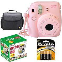 Fujifilm Instax Mini 8 Instant Film Camera (Pink) With Fujifilm Instax Mini 5 Pack Instant Film (50 Shots) + Compact Bag Case + Batteries Top Kit Fujifilm http://www.amazon.com/dp/B00M09WH0K/ref=cm_sw_r_pi_dp_p6Jpvb0ZT1CXJ