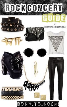 How to Dress for Rock Concert : Rock Concert Style TIps, What to Wear to Rock Concert | Online Fashion Magazine India | Best DIY Blog India | Makeup Tutorial Site | Chic Factor Gazette
