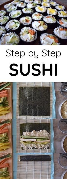 step by step sushi