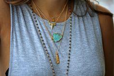 RAW turquoise necklace – Kei Jewelry