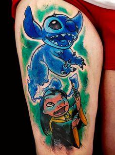 Cute Couple Tattoos, Cute Tattoos, Body Art Tattoos, Sleeve Tattoos, Tattoo Art, Harry Tattoos, Harry Potter Tattoos, Disney Tattoos, Lilo And Stitch Tattoo