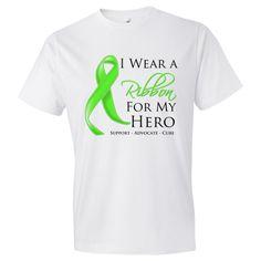 Non-Hodgkins Lymphoma I Wear a Ribbon For My Hero support shirts #NonHodgkinsLymphoma #NonHodgkinsLymphomaawareness #NonHodgkinsLymphomaribbonshirts
