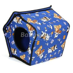 Soft Pet Doggy Cat Indoor Slepping House Kennel Warm Cloth Bed Basket