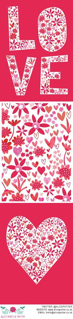 Image result for love hearts and flowers