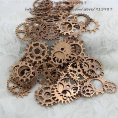 Cheap Charms, Buy Directly from China Suppliers:Wholesale Mix 100 pcs Antique Copper Charms Gear steampunk Pendant Antique bronze Fit Bracelets Necklace DIY Metal Jewe