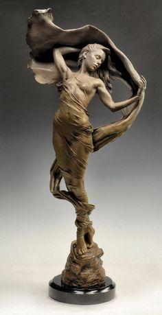 *Karl Jensen. Unbound Bronze. 42 x 20 x 14 inches - $2,500 First Place Prize ~ Art Renewal Center 2011-2012.