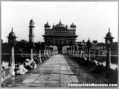 old rare pic of Entrance of Shri Darbar Sahib 1875c