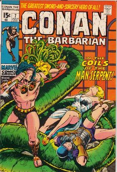 conan the barbarian comic book covers marvel | 1971 Conan the Barbarian #4-9 Marvel Comics (Featuring Barry Windsor ...