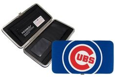 "Chicago Cubs Baseball Jersey Clutch Shell Wallet by Little Earth. $16.50. L 3.75 W 0.75"" H 7. The Shell Mesh Wallet can function as a mini purse for a dinner out or a wallet that goes into a larger bag. Full of features such as 5 credit card pockets clear ID sleeve zip change pocket and two full-length pockets this wallet is a winner at the game or any time!"