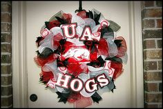 University of Hogs Sports Wreath with Custom by CottageDoorWreaths, $75.00