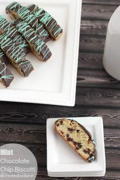Mint Chocolate Chip Biscotti @createdbydiane