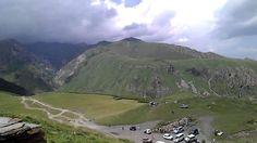 The view from the monastery Gergeti Sameba in Georgia