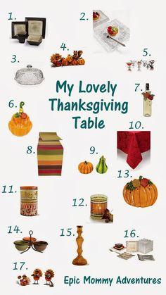 Thanksgiving table ideas!