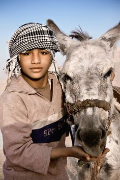 Boy and his donkey, Luxor, Egypt, Middle East - David Lazar photographer