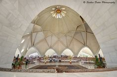 Amazing photo from inside the Baha'i House of Worship in India, by Sachin Dutta via 500px