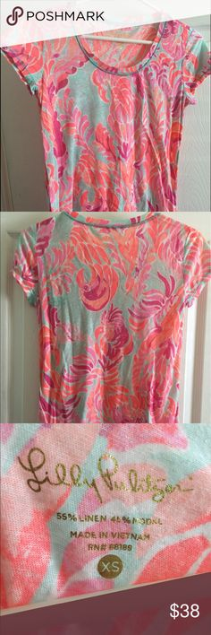 Lilly Pulitzer Love Birds tee NWT Lilly Pulitzer Love Birds tee XS. Cross-posted. Lilly Pulitzer Tops