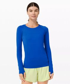 Swiftly Tech Long Sleeve 2.0   Women's Long Sleeve Shirts   lululemon Long Sleeve Outfits, Long Sleeve And Shorts, Long Sleeve Tops, Long Sleeve Shirts, Running Shirts, Yoga Tops, Athletic Wear, Sleeves, Mens Tops