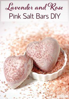 Lavender and Rose Pink Salt Bars DIY