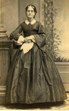 Image detail for -Civil War CDV Photo Big Hoop Dress Hankie Lady Bowery | eBay