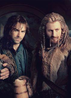 Aidan Turner and Dean O'Gorman....ridiculously photogenic dwarves