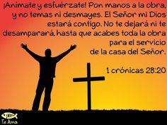 1 Crónicas 28:20 facebook.com/jesusteamamgaministries