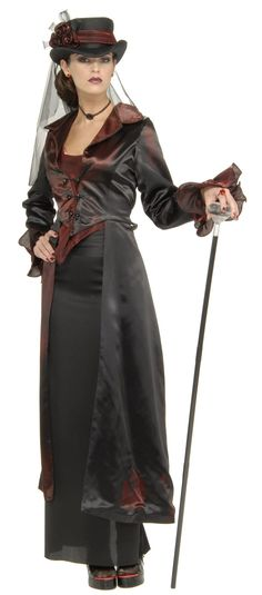 Steampunk Costume | Victorian Widow Maker Adult Costume - Steampunk Costumes
