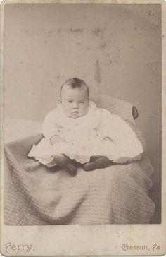 Cabinet Card Portrait of Beautiful Light Eyed Baby Cresson PA | eBay
