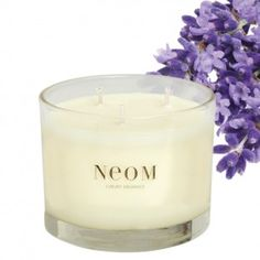 Neom Tranquillity Candle: English Lavender with Sweet Basil & Jasmine. Unmistakable lavender, but with a fresh twist. English lavender is typically a little cleaner smelling than French and coupled with a clean Basil and a pretty jasmine this is a heavenly relaxing scent.