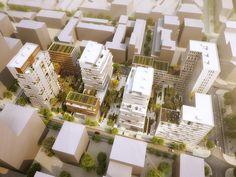 ECDM architectes /  Marseille Peyssonnel vue aerienne / #collective housing
