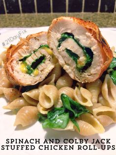 21 Day Fix: Spinach and Colby Jack Stuffed Chicken Roll-Ups | Simply Gourmet in Southie