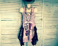 Upcycled One-Of-A-Kind Clothing and Artwear for by AnikaDesigns