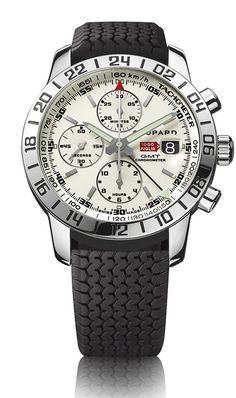 Mille Miglia GMT Chrono. A great watch with all Chopard's glamour and the racing spirit of the Mille Miglia race.