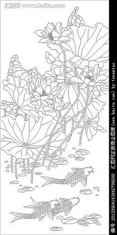 New Street Art Murales Flowers 38 Ideas Lotus Drawing, Lotus Art, Cool Art Drawings, Colorful Drawings, China Painting, Silk Painting, Colouring Pics, Coloring Pages, Chalkboard Art Quotes