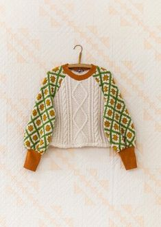 Knitting Projects, Knitting Patterns, Crochet Patterns, Crochet Clothes, Diy Clothes, Crochet Granny, Knit Crochet, Pullover, Knit Fashion
