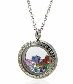 EVERLEAD Living Memory Floating Locket necklace 316L Stainless Steel Toughened Glass 20mm 25mm 30mm Locket Pendant uJFELqcz