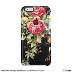 beautiful vintage floral case uncommon clearly™ deflector iPhone 6 case