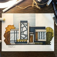 Floating Architecture, Architecture Program, Architecture Model Making, Architecture Concept Drawings, Architecture Sketchbook, Facade Architecture, Decoration, House Sketch, Illustration