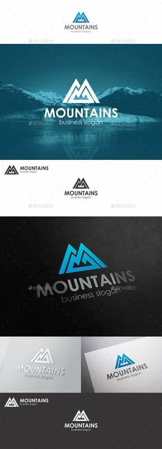 Mountains Logo Monogram M Letter  – Mountains Peak Logo Template. Is a clean, professional and elegant logos suitable for nature & mountain business like an adventure sports company, a mountain brand, a natural line of products, hotels & resorts or any other business related.