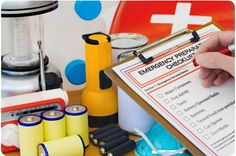 """emergency-prepared ( I post this because it's a good idea, but I do have to ask, if you have no """"emergency shelter"""" or hurricane/tornado/flood proof area, how are you going to still have all this once the natural disaster destroys your home) I don't know about you but I don't have the room to carry all this around in my car on a regular basis and I don't have a bomb shelter under my house... we don't have a cellar either... we live in a trailer!"""